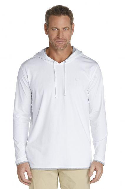 Coolibar---UV-hoodie-heren---wit