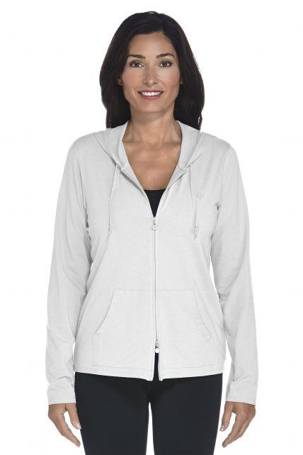 Coolibar---UV-hoodie-dames---wit