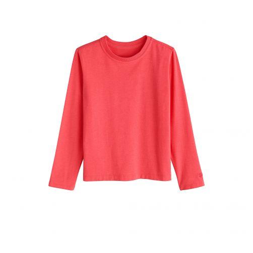 Coolibar---UV-shirt-voor-kinderen-lange-mouwen---Koraal