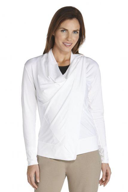 Coolibar---UV-vest-dames---wit