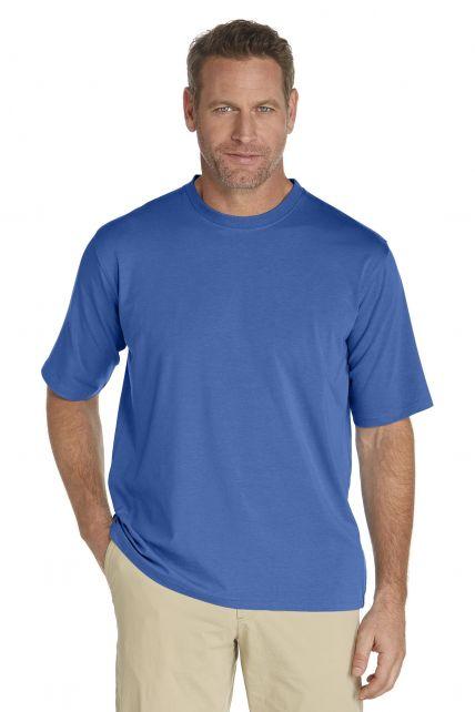 Coolibar---UV-shirt-heren---blauw