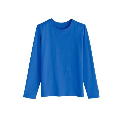 Coolibar---UV-shirt-voor-kinderen-lange-mouwen---Briljant-blauw