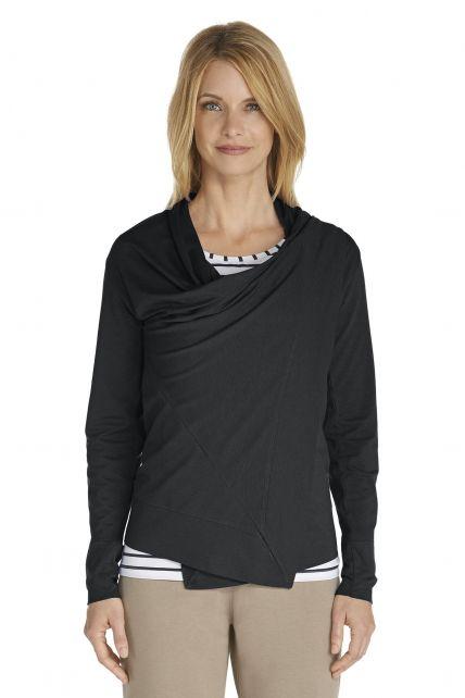 Coolibar---UV-vest-dames---zwart