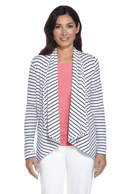 Coolibar---UV-Sun-Wrap-Vest-voor-dames---Marietas---Navy/Wit