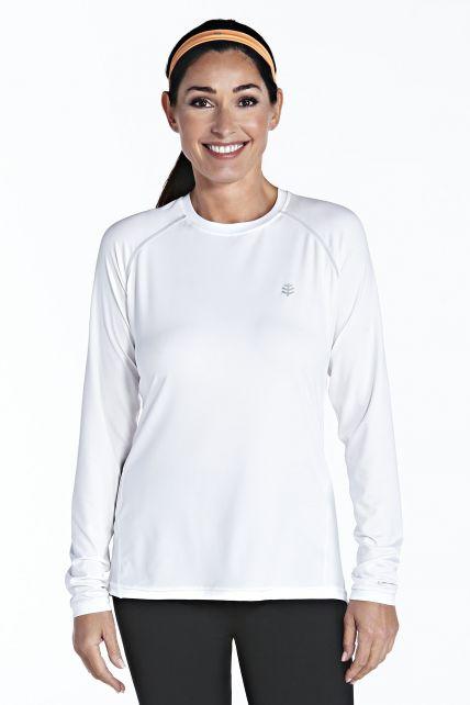 Coolibar---UV-sport-longsleeve-shirt-dames---wit