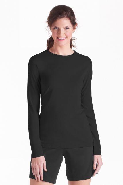 Coolibar---UV-Shirt-voor-dames---Longsleeve---Morada---Zwart