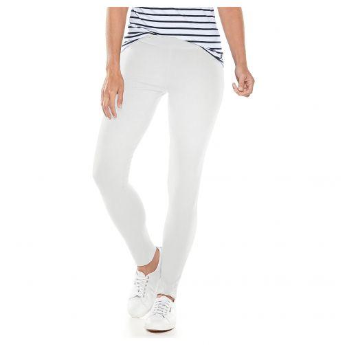 Coolibar---UV-Leggings-voor-dames---Monterey---Wit