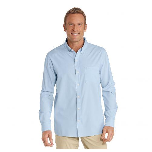 Coolibar---UV-Overhemd-voor-heren---Lichtblauw
