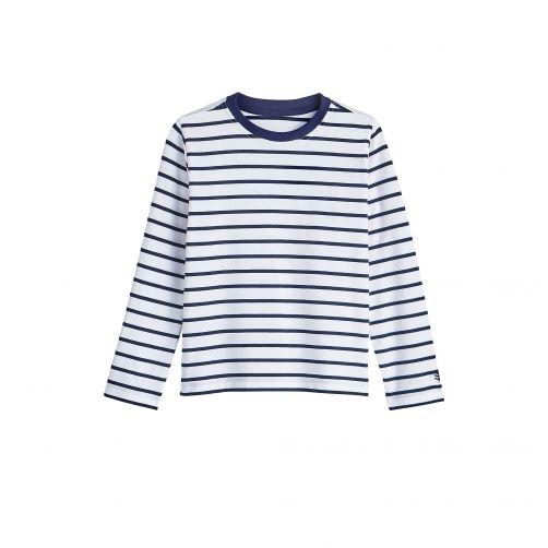 Coolibar---UV-Shirt-voor-kinderen---Longsleeve---Coco-Plum---Wit/Navy