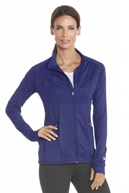 Coolibar---UV-fitness-jasje-dames---Saphire