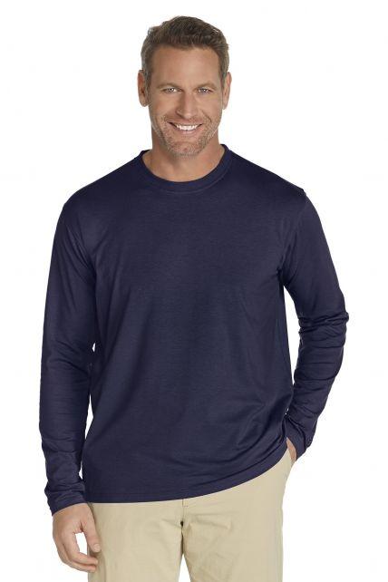 Coolibar---UV-Shirt-voor-heren---Longsleeve---Morada---Navy