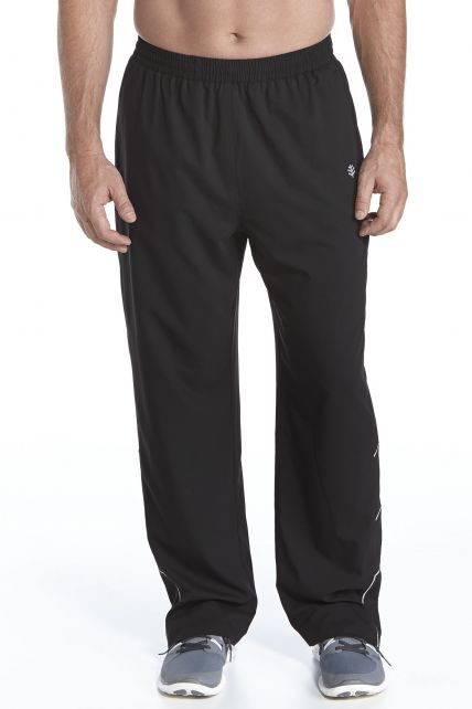 Coolibar---UV-fitness-broek-heren---zwart