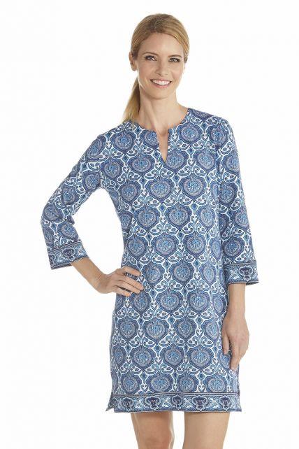 Coolibar---UV-jurk-dames---Blauw