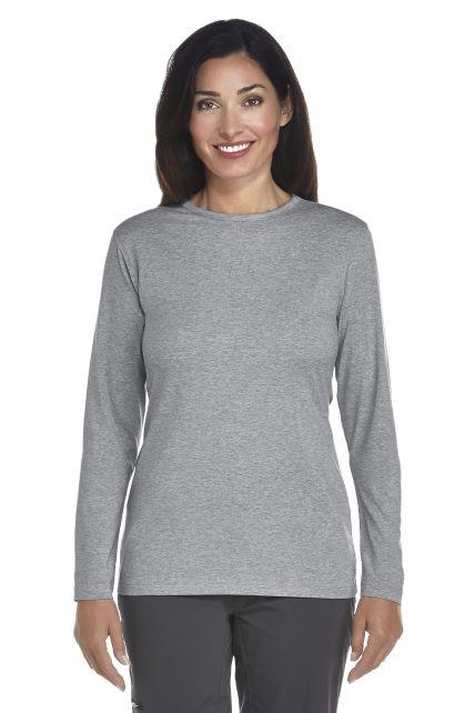 Coolibar---UV-longsleeve-zwemshirt-dames---grijs