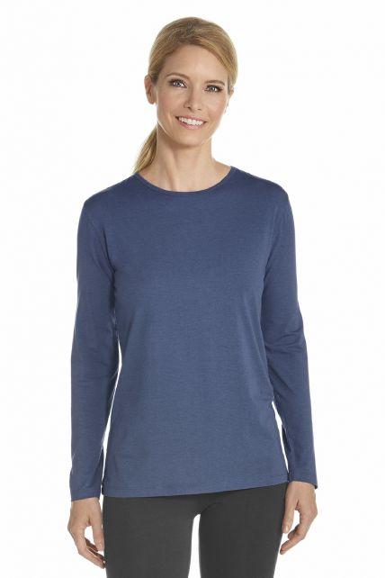 Coolibar---UV-shirt-lange-mouwen---Donkerblauw