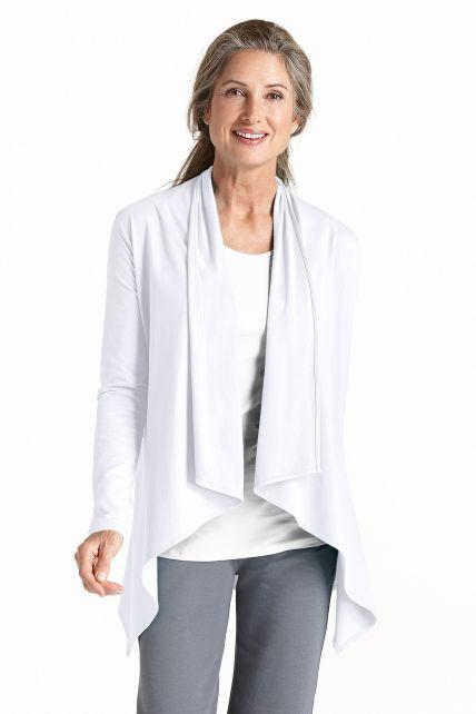 Coolibar---UV-Sun-Wrap-Vest-voor-dames---Marietas---Wit