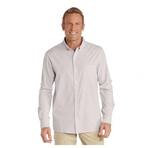 Coolibar---UV-Overhemd-voor-heren---Steengrijs