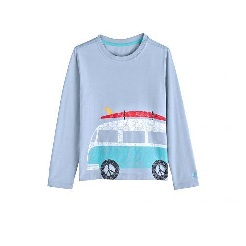 Coolibar---UV-shirt-voor-kinderen-lange-mouwen---Bus-Vintage-blauw