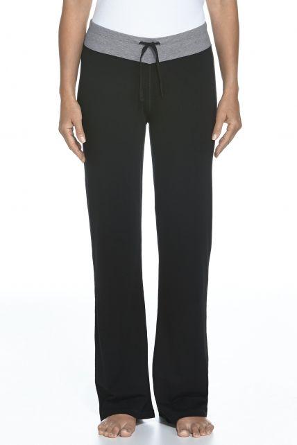 Coolibar---UV-broek-Dames---Zwart-/-Grijs-