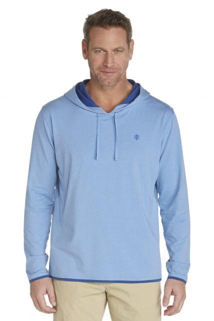 Coolibar---UV-hoodie-heren---licht-blauw