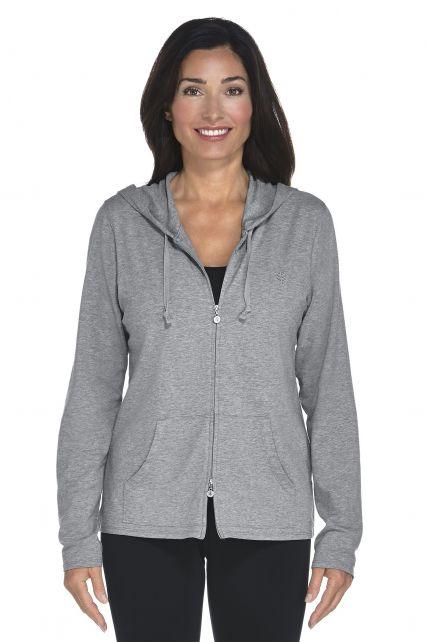 Coolibar---UV-hoodie-dames---grijs