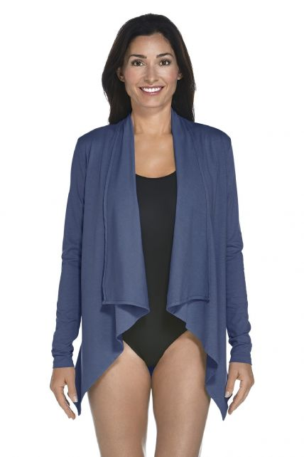 Coolibar---UV-vest-dames---Donkerblauw