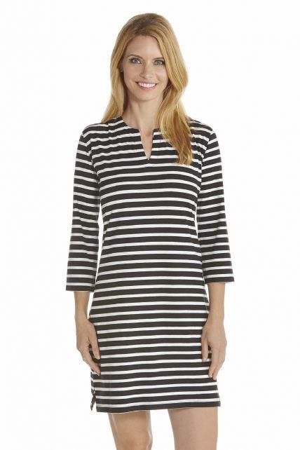 Coolibar---UV-jurk-dames---Zwart-/-Wit