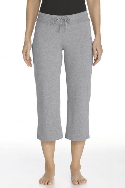 Coolibar---UV-broek-capri-dames---grijs
