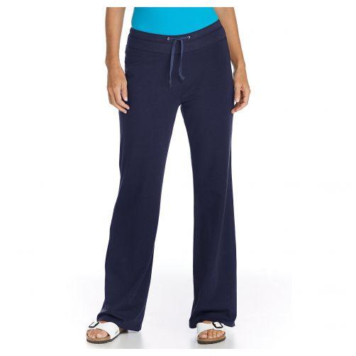 Coolibar---UV-strandbroek-dames---Donkerblauw