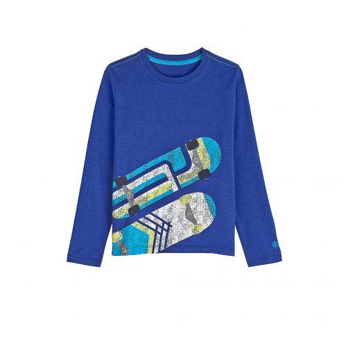 Coolibar---UV-shirt-voor-kinderen-lange-mouwen-Skateboard---Sailor-blauw