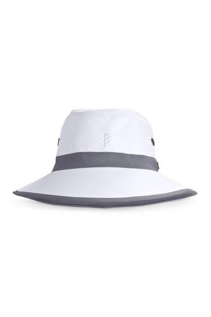 Coolibar---UV-Golfhoed-met-brede-rand-voor-volwassenen---Matchplay---Wit/Carbon