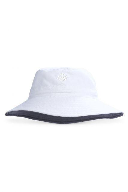 Coolibar---UV-bucket-hoed-voor-kinderen---Wit-/-steenkoolgrijs