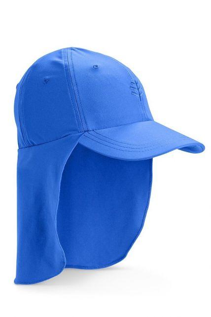 Coolibar---UV-zonnepet-voor-kinderen-met-nekflap---Baja-blauw