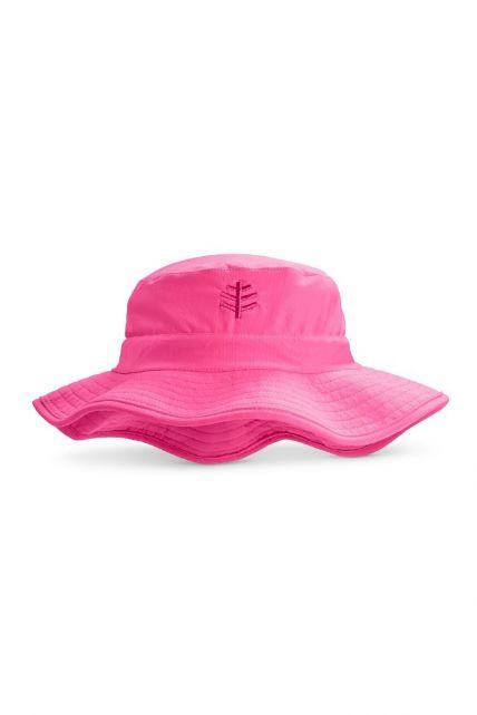 Coolibar---UV-bucket-hoed-voor-kinderen---Aloha-roze