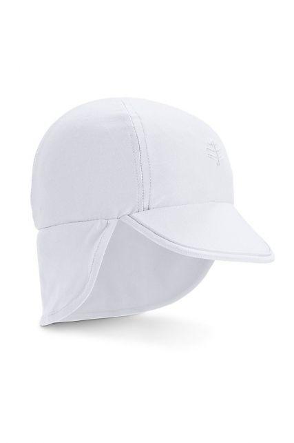 Coolibar---UV-Zonnepet-voor-baby's-met-nekflap---Splashy---Wit