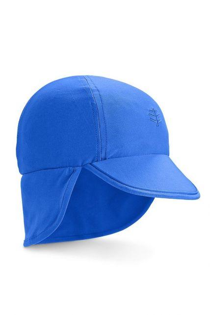 Coolibar---UV-zonnepet-voor-baby's-met-nekflap---Baja-Blue-