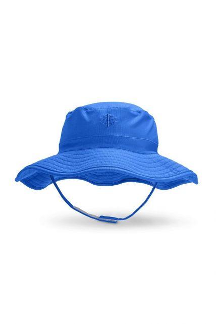 Coolibar---UV-bucket-hoed-voor-baby's---Baja-blauw