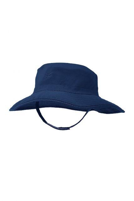 Coolibar---UV-bucket-hoed-voor-baby's---Navy-blauw
