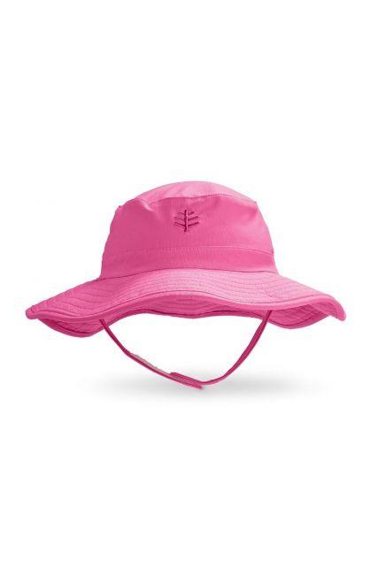 Coolibar---UV-bucket-hoed-voor-baby's---Aloha-roze