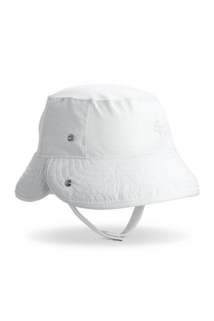 Coolibar---UV-Bucket-Hoed-voor-baby's---Linden---Wit