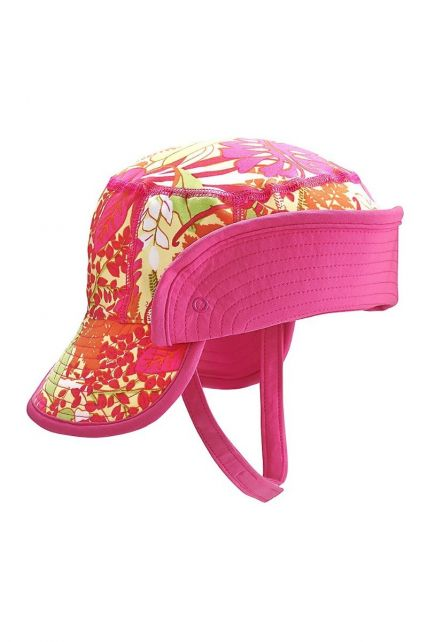 Coolibar---UV-bucket-hoed-baby's---Opvouwbare-rand---Tropisch-roze