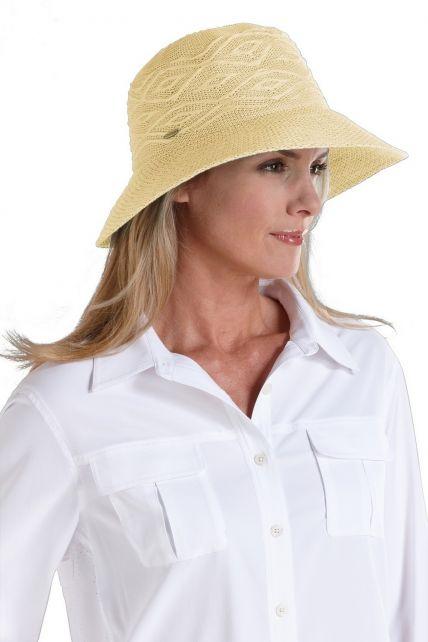 Coolibar---kreukvrije-UV-hoed-dames---Beige