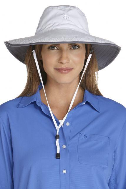 Coolibar---UV-strandhoed-voor-dames---Wit