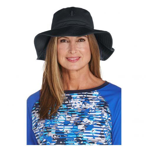 Coolibar---UV-flaphoed-voor-dames---Zwart