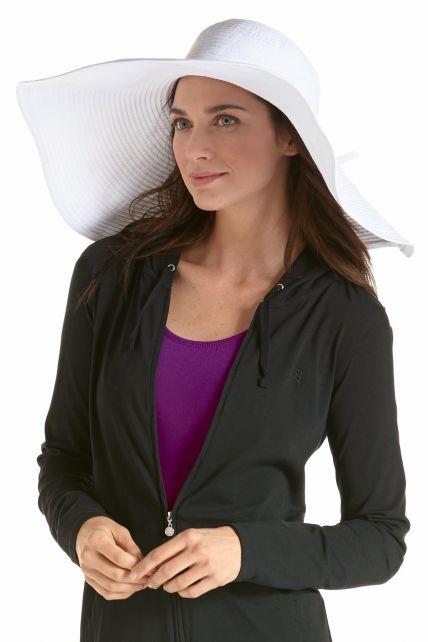 Coolibar---UV-XL-flaphoed-voor-dames---Wit