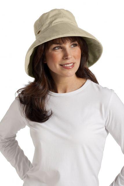 Coolibar---UV-hoed-dames---Tan