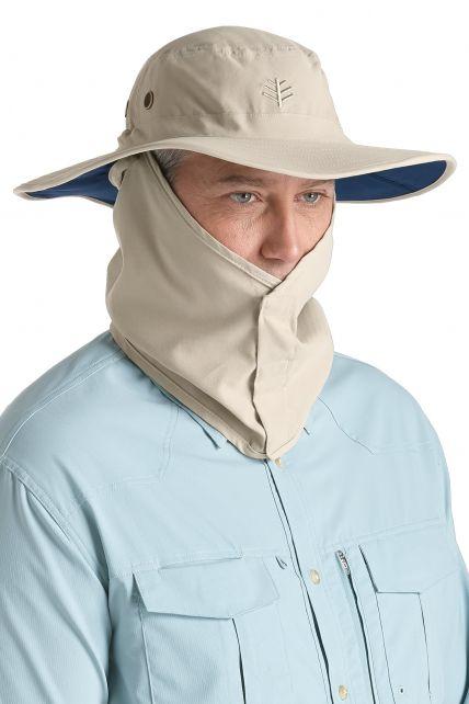 Coolibar---UV-hoed-voor-heren---Grijs-/-Donkerblauw