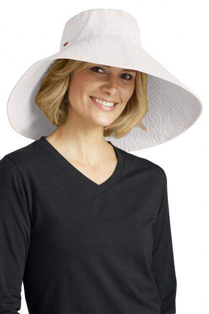 Coolibar---UV-flaphoed-voor-dames---Wit