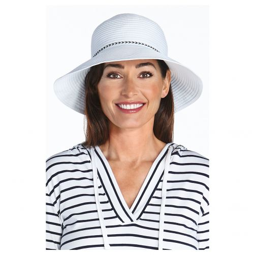 Coolibar---UV-bucket-hoed-voor-dames---Wit