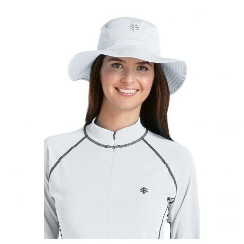 Coolibar---UV-bucket-hoed-unisex---Wit